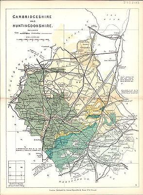Antique map, Cambridgeshire and Huntingdonshire
