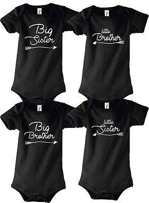 Big/Lil Brother/Sister Kinder Baby SHIRT STRAMPLER BODY Geschwister Partner