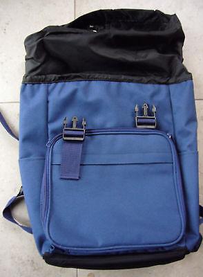 Wanderer Erweiterbar Rucksack (Rucksack Blau mit vielen Details gepolstert erweiterbar Sport Reise Wandern Neu)