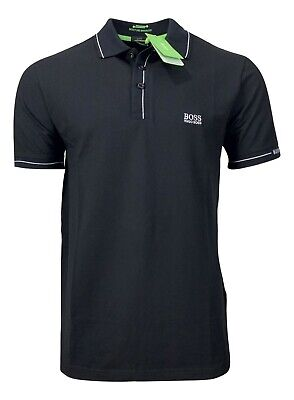 Hugo Boss Men's Paule Moisture Manager Polo Shirt - Slim Fit - Black Hugo Boss Moisturizing Moisturizer