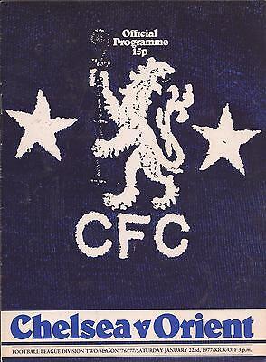 Chelsea v Leyton Orient - Div 2 - 1977 - Football Programme
