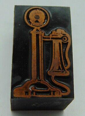 Printing Letterpress Printers Block Vintage Telephone Phone