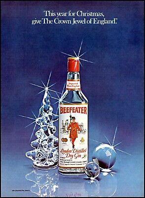 1980 Beefeater gin Christmas crown jewel of England vintage photo Print Ad ads22 ()