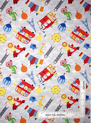 Big City Balloons (Animals Bus Balloon Gray Cotton Fabric Wilmington 69276 Big City Friends -)