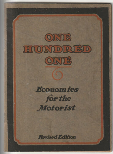 """1920s Tidewater Oil - """"One hundred one - Ecomomies"""" booklet"""