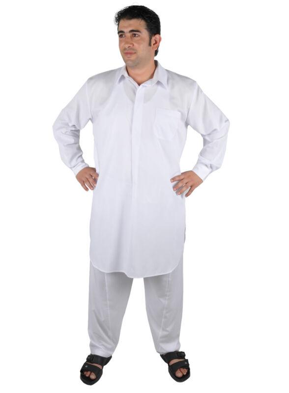 Zweiteiliges Salwar-Kameez-Set Hose Tunika im Pakistani-Stil  weiß - KAM00665