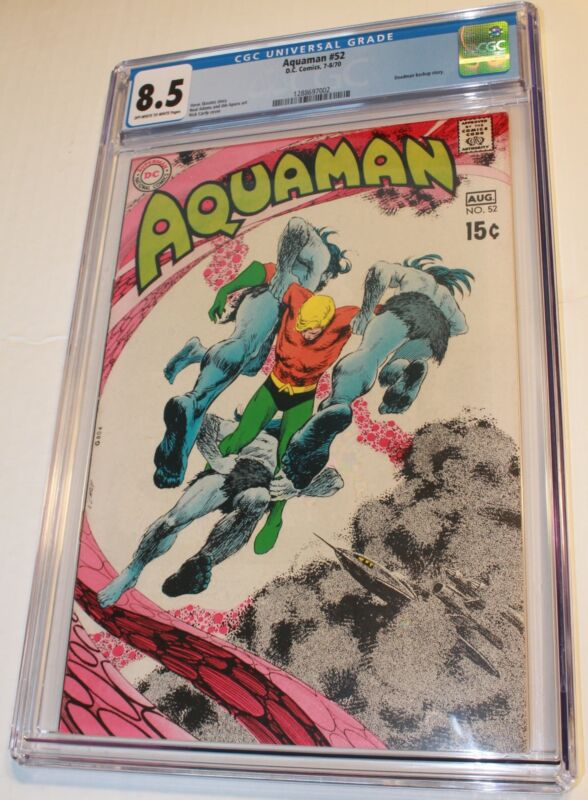 AQUAMAN #52 CGC 8.5 NEAL ADAMS JIM APARO art DEADMAN BACKUP STORY,