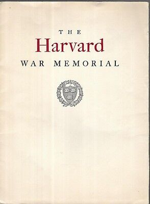 Harvard University WWI War MEMORIAL CHURCH Vintage Orig 1927 Strategy Plan Book