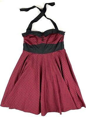 HELL BUNNY VIXEN Ashley Dress Full Circle Swing Halter Rockabilly Lindy Hop 2XL
