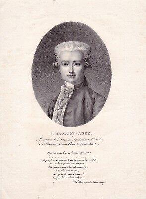 Portrait XIXe Ange-François Fariau de Saint-Ange Linguiste Traducteur d'Ovide