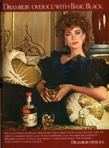 1982 Drambuie Liquor Fashion Oscar Heyman Print Advertisement Ad Vintage 1980s