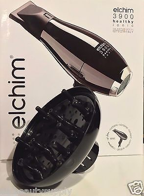 Elchim 3900 Ionic Ceramic Hair Dryer,  Black
