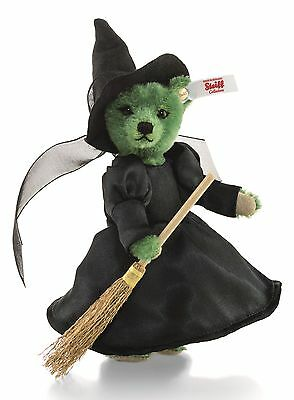 Steiff Mini Wicked Witch Teddy Bear Green Mohair The Wizard of Oz 14cm 661860