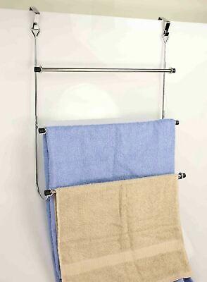 Home Basics NEW Over The Door Towel Rack Rod Silver Chrome - TR41259 ()