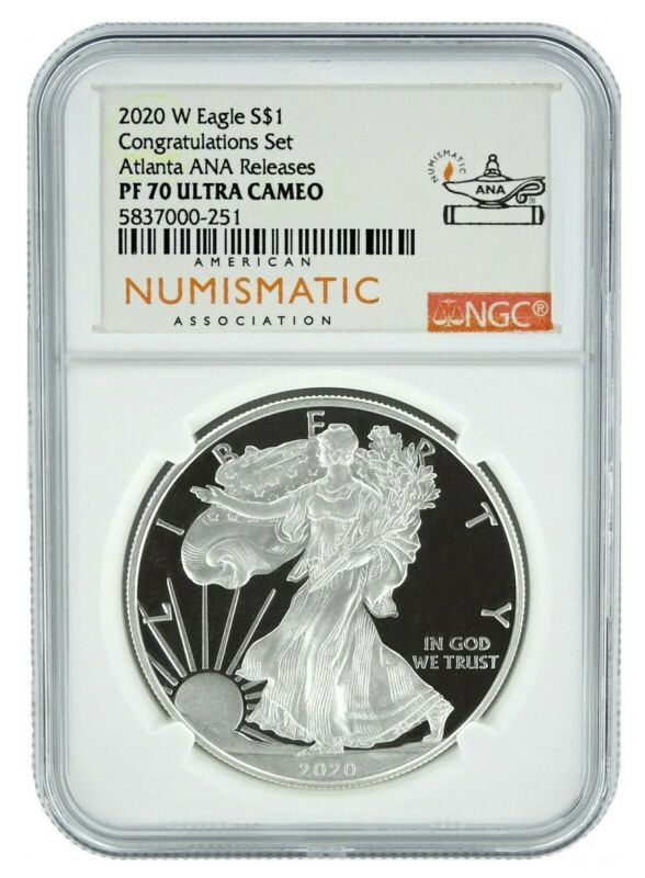 2020 W Congratulations Set Silver Eagle Proof NGC PF70 Ultra Cameo - Atlanta ANA