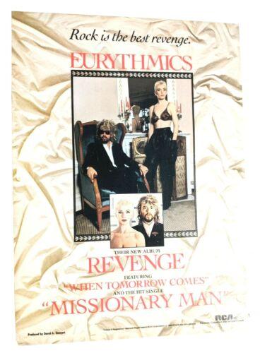 EURYTHMICS / ANNIE LENNOX / DAVE STEWART / 1986 REVENGE LP MAGAZINE PRINT AD