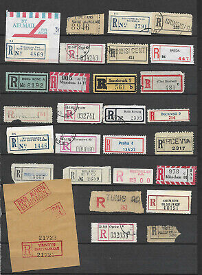 Registered and Express mail  labels all different 2 scans