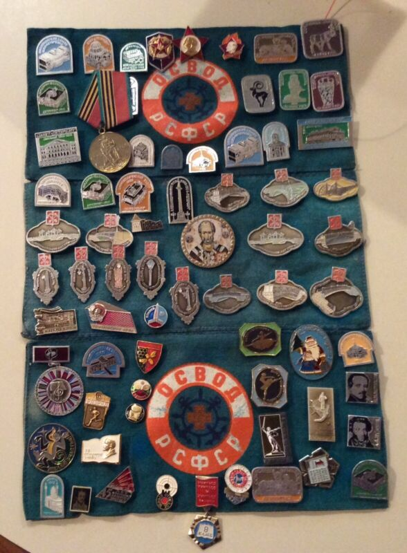 Vintage Russian Russia Pin LOT Collection - 70+ pins