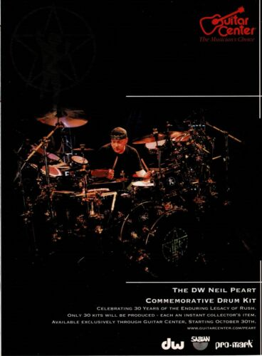 GUITAR CENTER - NEIL PEART of RUSH - 2006 Print Advertisement