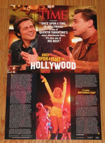 Rare ONCE UPON A TIME IN HOLLYWOOD 11X17 PROMO POSTER - Tarantino PITT DiCaprio
