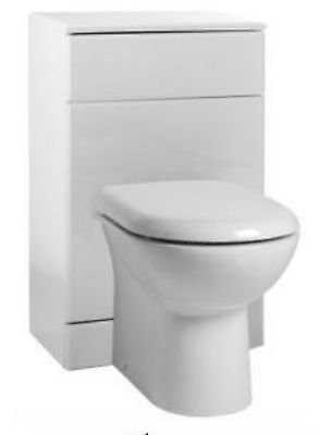600 x 300mm WC Unit White BTW Pan Set Concealed Cistern Luxury D Toilet Seat