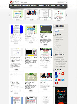 Clickbank Affiliate Store Website - Fully Autopilot And Customizable