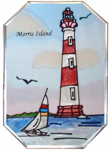 "Silver Creek South Carolina Morris Island Lighthouse Suncatcher ~ 7"" W x 10"" H"