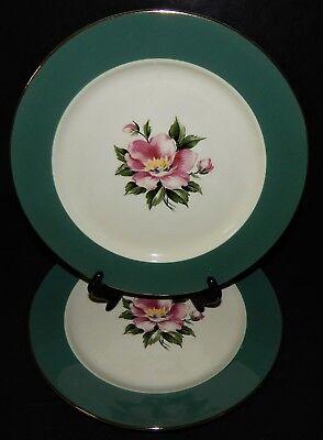 2 Homer Laughlin Century Service Empire Green Dinner Plates  Alliance Ohio USA