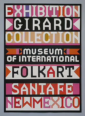 Alexander Girard Designed Original Poster for Folk Art Collection #2 NOS