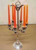 N°4605 N° Candelabro 6 Luci Vecchio In Argento Sheffield Collection -  - ebay.it