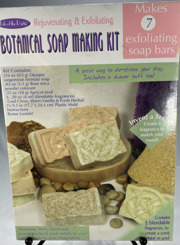 Life Of The Party 57035 Botanical Soap Making Kit- Makes 7 Bars!! NEW!!