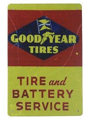 US SELLER, Good Year Tires battery service tin metal sign plaque wall decor - New Years Decor Ideas