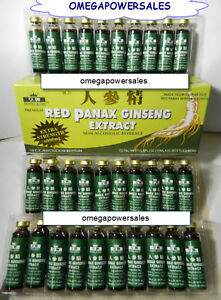 RED PANAX GINSENG EXTRACT 1 BOX 30 BOTTLES 12 YEAR ROOT EXTRA STRENGTH 6000MG