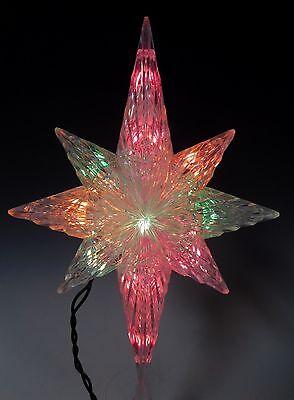 "14"" MULTI COLOR LIGHT UP CHRISTMAS STAR TREE TOPPER"