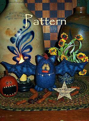 Primitive Patti's Ratties Fall Halloween Bat Ornie Doll Paper Pattern #609