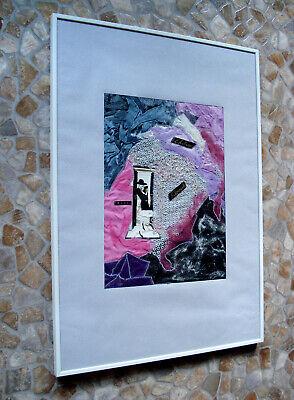 Collage Abstrakte Kunst Handarbeit Unikat 71 x 50 cm