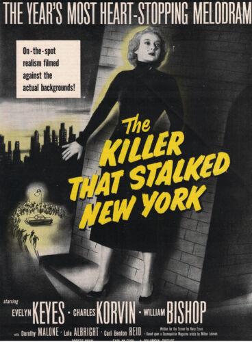 The Killer That Stalked New York (1950) Magazine Ad Tearsheet