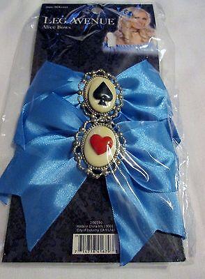 New Leg Avenue Alice in Wonderland Hair Bows Halloween Costume Accessory - Leg Avenue Alice Costume
