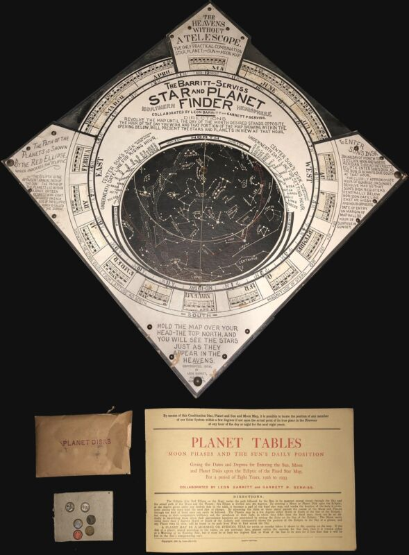 1906 Barritt Serviss Star and Planet Finder