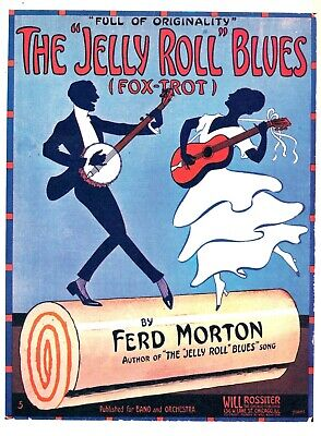 US SELLER- The Jelly Roll Blues  sheet music cover art buy wall poster