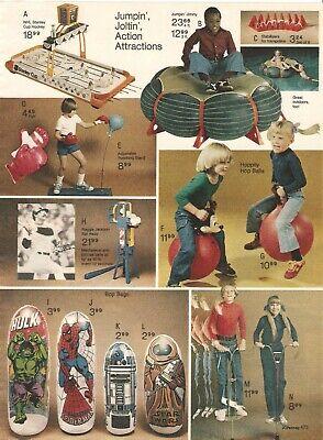 VINTAGE 1979 STAR WARS BOP BAGS R2D2 JAWA HULK SPIDER-MAN PRINT AD CLIPPING