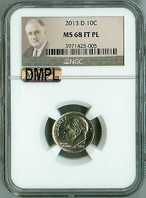 Click now to see the BUY IT NOW Price! 2013 D NGC MS68 FT PL ROOSEVELT DIME MAC DMPL BLAST WHITE POP 5 NONE FINER