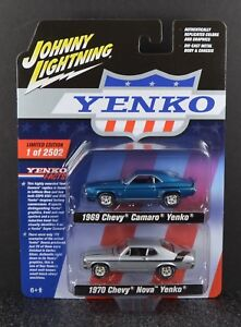 Johnny Lightning 1969 Camaro Yenko & 1970 Nova Yenko Two Pack 1/64