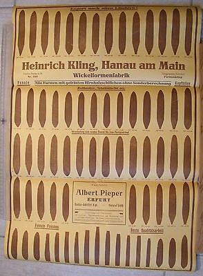 HANAU/MAIN, Plakat ca. A 2, um 1930, Zigarren-Wickelformen-Fabrik Heinrich Kling