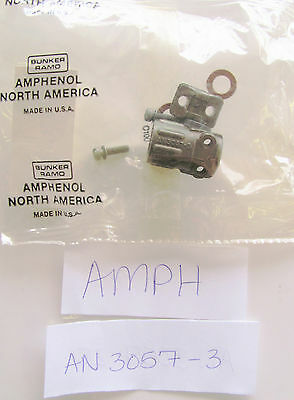 Amphenol An-3057-3 Cable Clamp For Shell 8s 10s An 3057 3 3057-3 3057 3 Nos