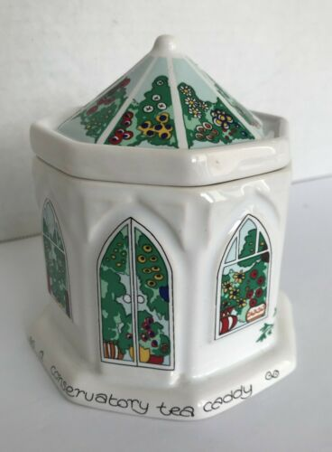 Wade English Life Conservatory Tea Caddy by Barry Smith & Barbara Wootton VGC