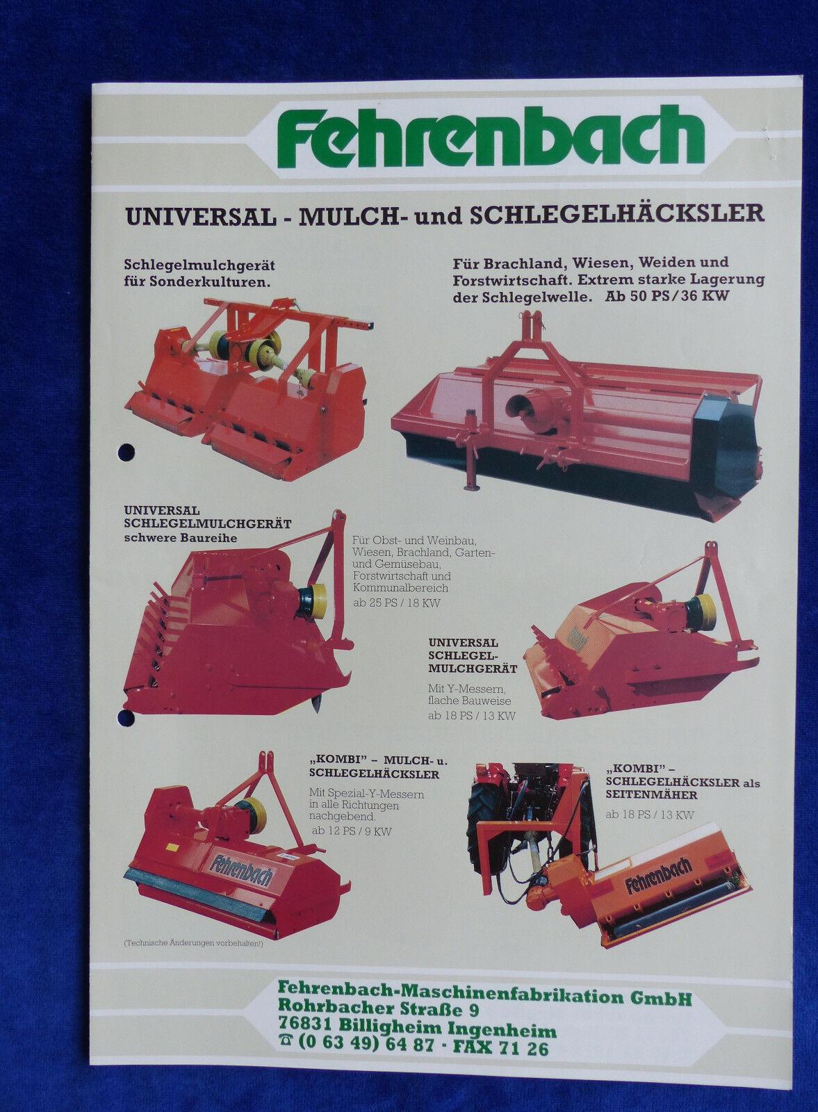 Fehrenbach Mulch- & Schlegelhäcksler - Prospekt Brochure  (0458