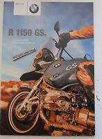 Bmw R1150gs R1150 Gs Catalogo Depliant Brochure Prospekt Pubblicita Grigio -  - ebay.it
