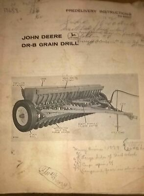 Vintage Jd John Deere Dr-b Grain Drill Predelivery Instructions Manual