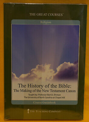 Great Courses: History of Bible: making of the New Test. Canon 2 DVDS & Book (Great History)